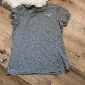 Nike DriFit Tee - Gray, Size L